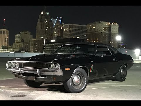 1970 Dodge Challenger R/T RT SE in Black & 426 Hemi Engine Sound on My Car Story with Lou Costabile