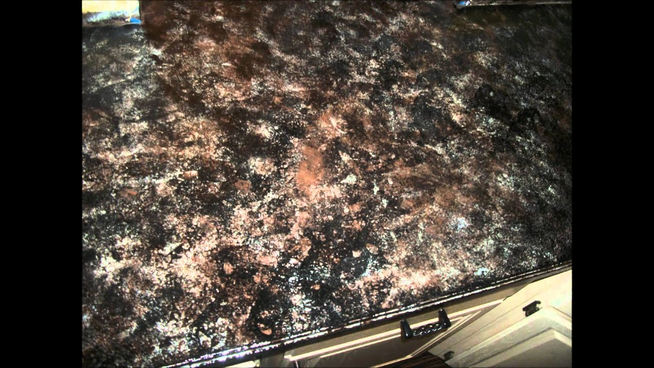 Paint Kitchen Countertops To Look Like Granite How To Create Faux Granite Countertops Youtube