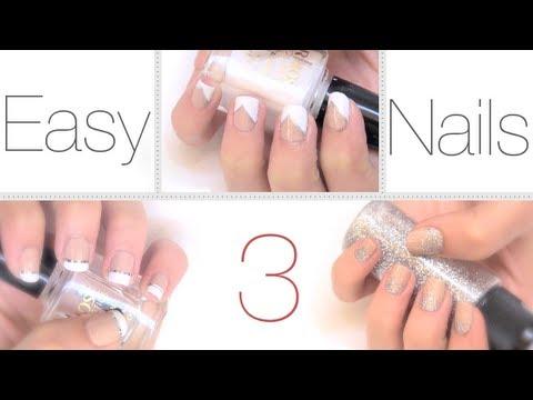 Ideas fáciles y elegantes para pintar las uñas - YouTube