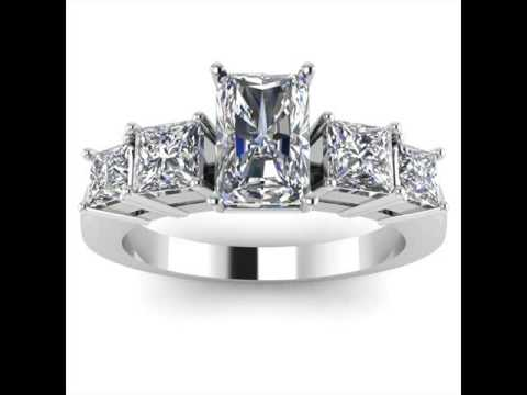 Modern Engagement Rings Princess Cut