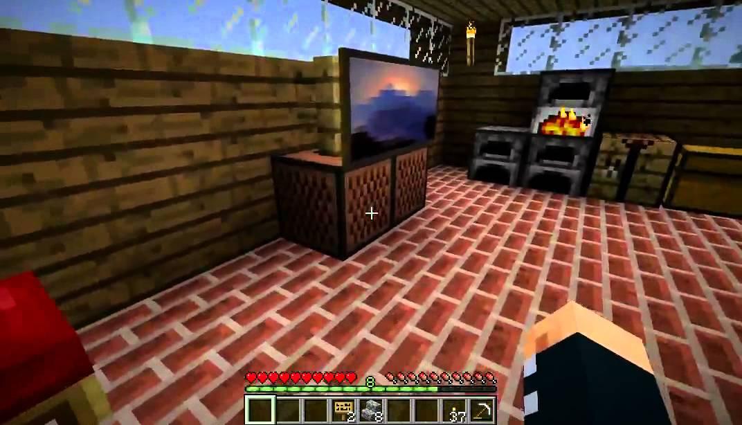 minecraft how to make a flatscreen tv youtube. Black Bedroom Furniture Sets. Home Design Ideas