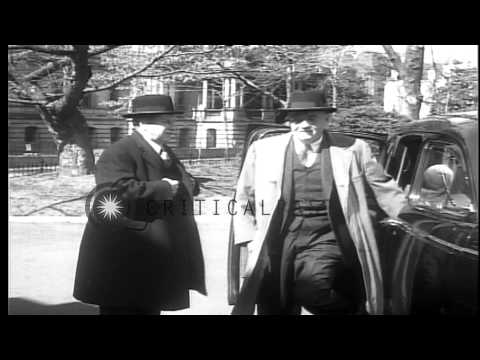 President Eisenhower meets a Anthony Eden, British Prime Minister, in United Stat...HD Stock Footage