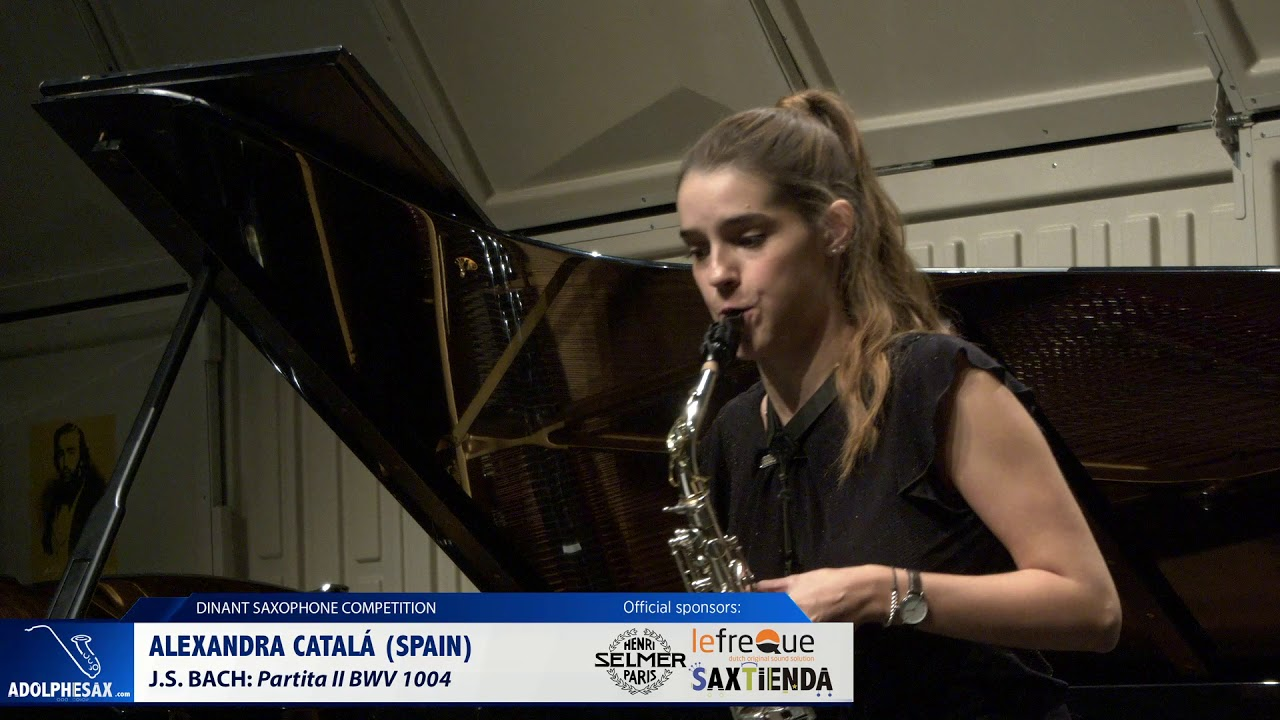 Alexandra Catalá Spain   Partita II BWV 1004 by J S  Bach