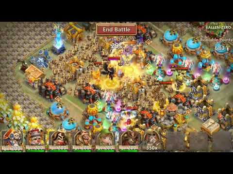 Castle Clash  Extremely Easy Guild Wars September 21 2017