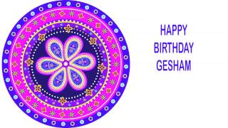 Gesham   Indian Designs - Happy Birthday