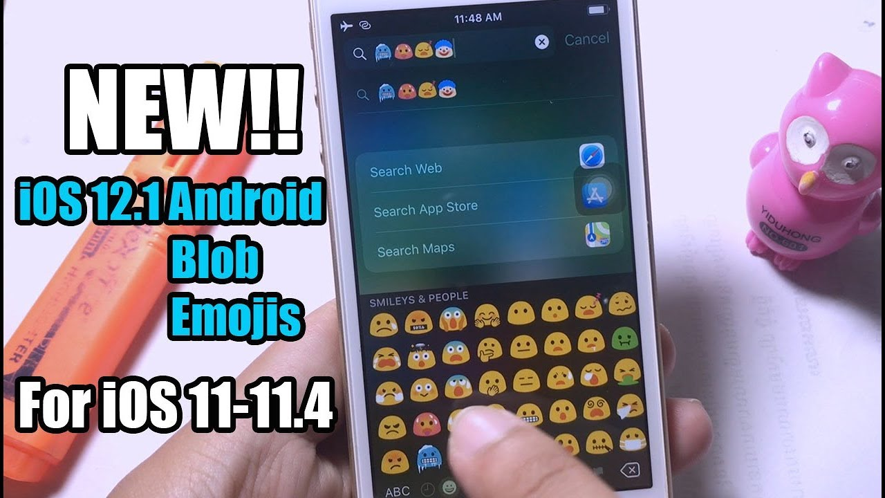 NEW!!!Get ANDroid Blob iOS 12 1 Emojis For iOS 11-11 4 Electra Jailbreak