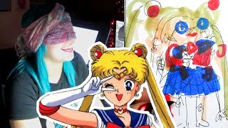 BLINDFOLD DRAWING CHALLENGE - Sailor Moon