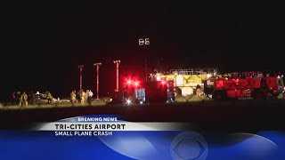 2 transported after small plane crashes at Tri-Cities Airport