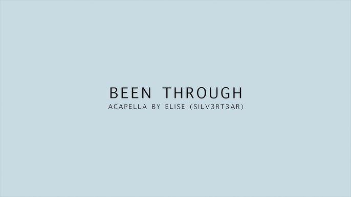 (Acapella Cover) EXO - Been Through (지나갈 테니) | Elise (Silv3rT3ar)