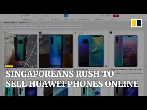 Singaporeans rush to sell Huawei phones online