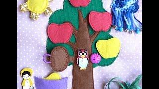 Мягкая развивающая книжка. Страница - Дерево с яблоками