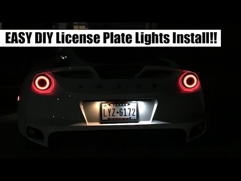 New License Plate Lights Install on Lotus Evora 400