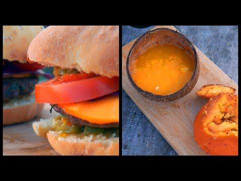 le-meilleur-burger-et-le-meilleur-gâteau-dans-l'orange-au-feu-de-bois