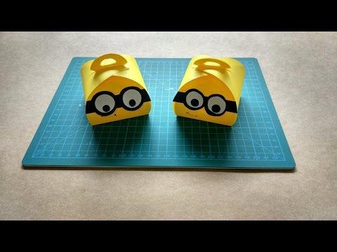 Minion KeepSake Curvy Box   HandMade   DIY   Despicable Me