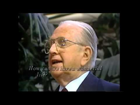 Norman Vincent Peale in the Crystal Cathedral