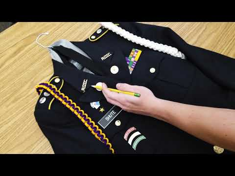 Army JROTC Male Uniform -- Torches/Officer Brass