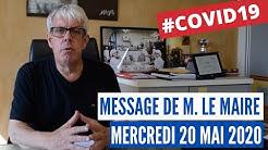 Covid19 – Message vidéo de M. le Maire de Clermont – mercredi 20 mai 2020
