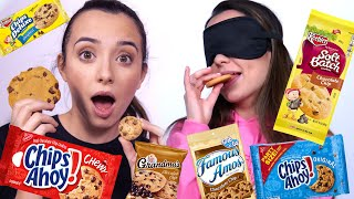 GUESS THE COOKIE Chocolate Chip Cookie Taste Test (BLINDFOLDED) - Merrell Twins