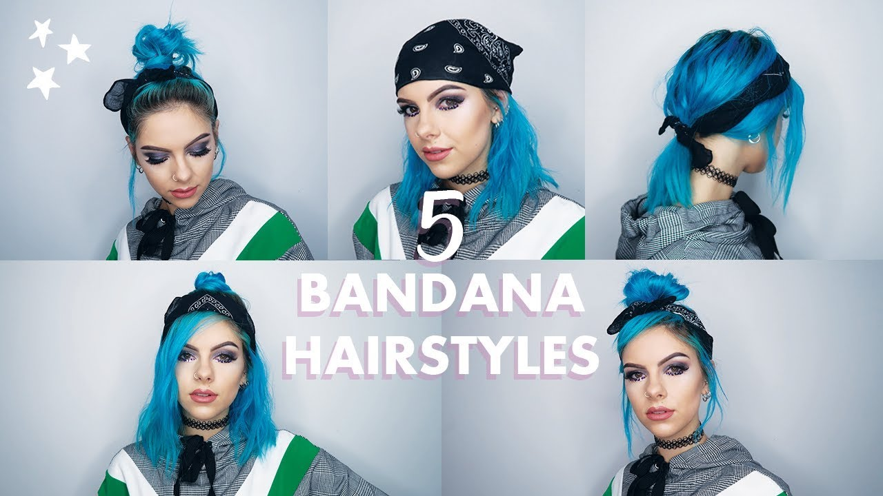 5 Easy Bandana Hairstyles For Short Hair Youtube