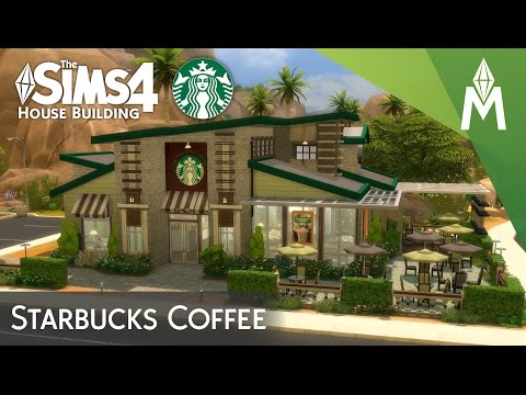 The Sims 4 House Building - Starbucks Coffee