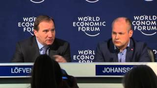 Davos 2016 - Press Conference with the Prime Minister of Sweden