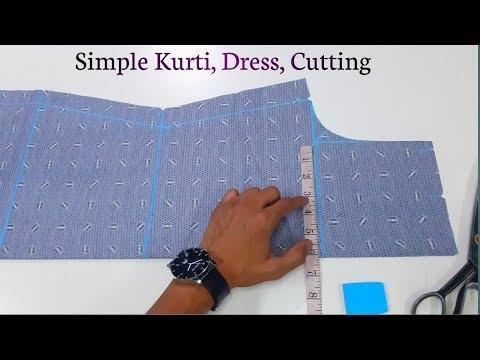 Simple Kurti, Kameez, Cutting | Shaheen Tailors