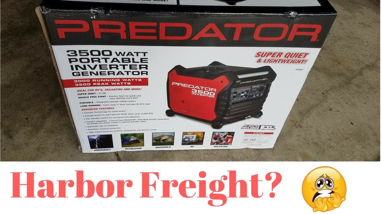 Predator 3500 Inverter Generator - YouTube