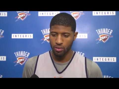 Paul George Reflects On Game Against San Antonio Spurs / Thunder vs Spurs