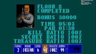 wolfenstein 3d episode 3 100% bring 'em on difficulty using ecwolf