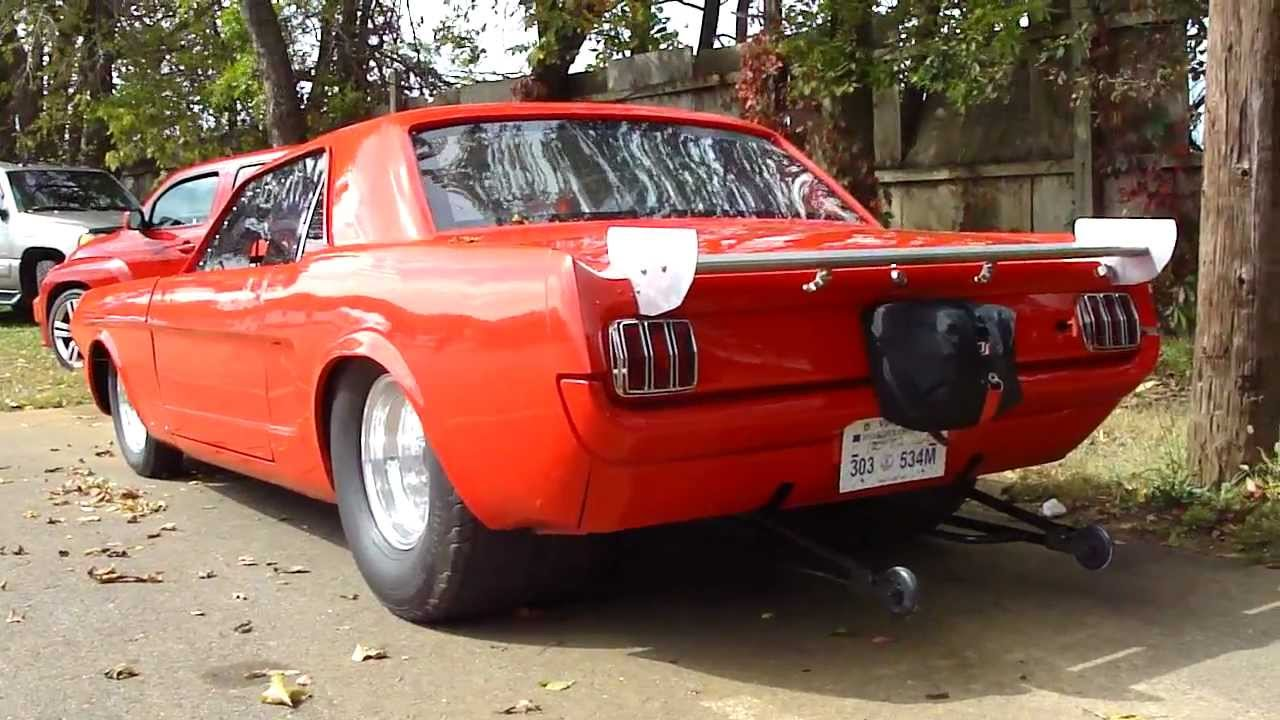 PRO-STREET MUSTANG COUPE * CHOPPED DROPPED TUBBED WHEELIE BARS CHUTE ...