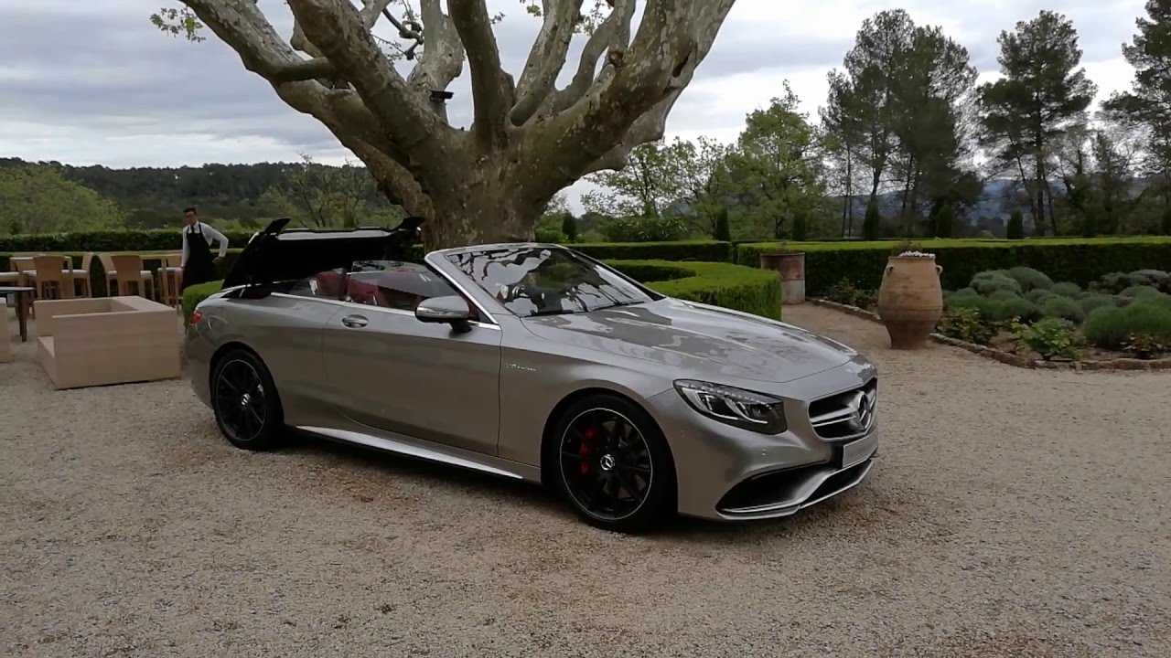 Mercedes-AMG S63 4MATIC Cabriolet Edition 130 Roof Opening - YouTube