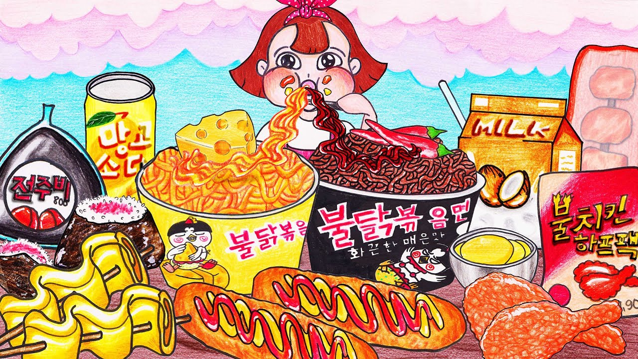 CONVENIENCE STORE FOOD Mukbang Animation - Stop Motion Paper