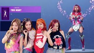 *NEW* TRUE HEART K-POP DANCE EMOTE (BLACK PINK, AoA, MOMOLAND)!! FORTNITE BATTLE ROYALE