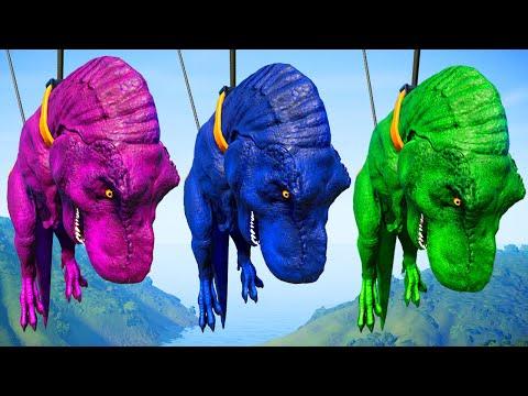 T-Rex Vs Triceratops Breakout & Fight - Jurassic World Evolution Dinosaurs Fighting