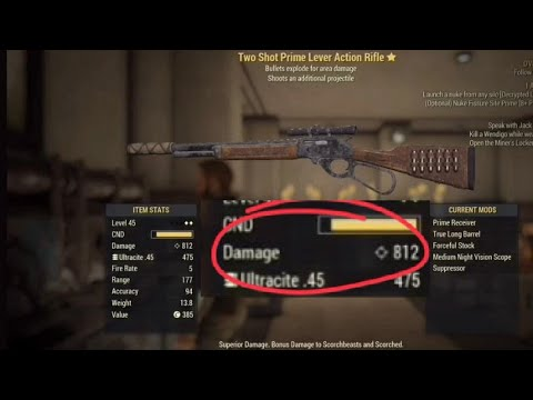The BEST WEAPON in Fallout 76 - Lever Action Rifle location + where to find  TSE LA: 812 Damage
