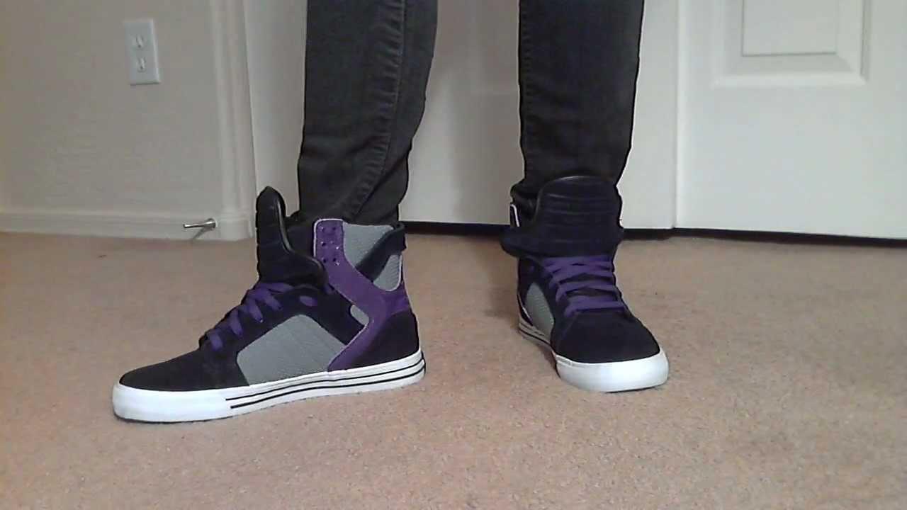 Justin bieber supra shoes purple