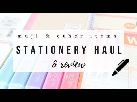 Muji stationery haul & honest reviews - 2018 | studytee