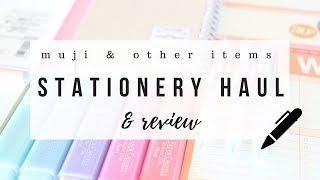 Muji stationery haul & honest reviews - 2018 | studytee