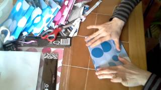 用A4紙做成禮物袋 How to make a gift bag from a coloured A4 paper
