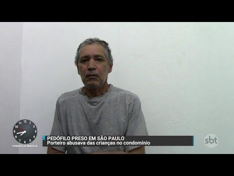 Porteiro acusado de abuso sexual contra crianças é preso em SP   Primeiro Impacto (10/11/17)