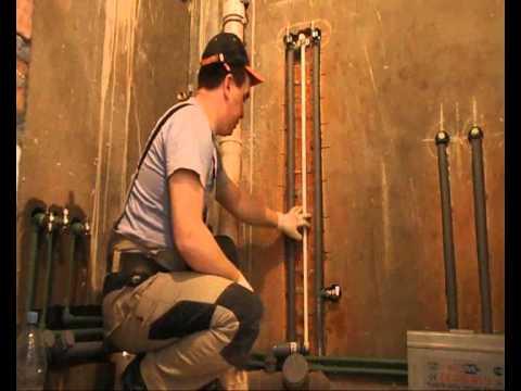 пример монтажа водопровода и канализации в жилой квартире