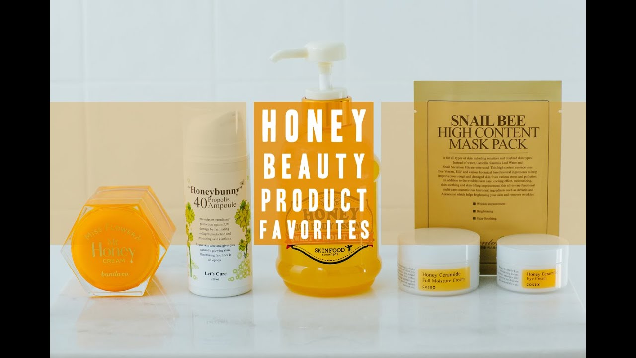 Honey skin care products
