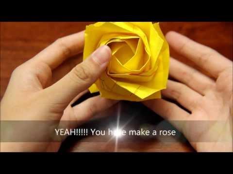 Origami New Kawasaki Rose PART 3