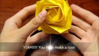 Origami New Kawasaki Rose PART 3