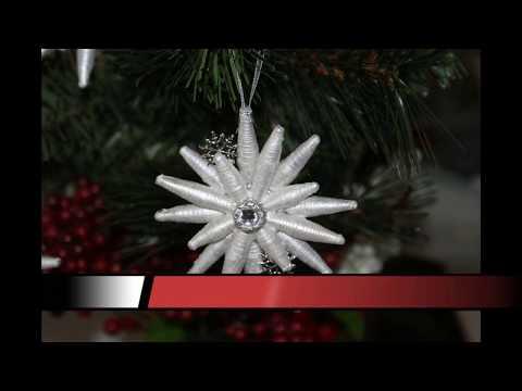 DIY Paper Bead Christmas Ornaments
