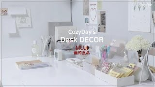 Eng) Unmanned Goods (MUJI) Desk decorating with stationery • Desk decor and tour