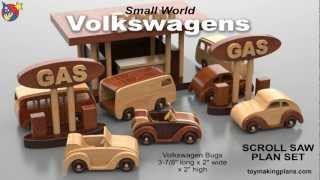 Wood Toy Plans - Volkswagen Bugs And Buses