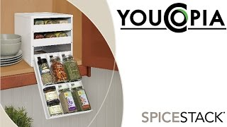 YouCopia SpiceStack 18 Bottle Spice Rack Organizer with Universal Drawers