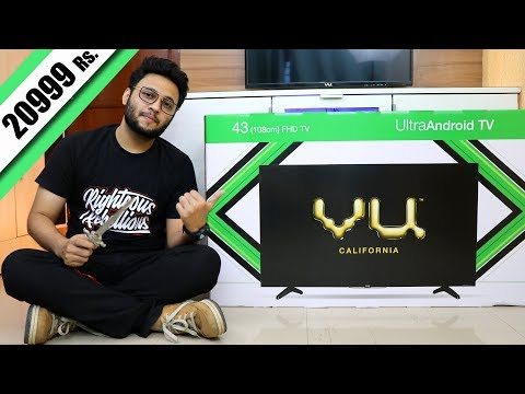 Vu 43 Inches Full HD Smart UltraAndroid LED TV   My New TV Unboxing And Review   Detailed Demo