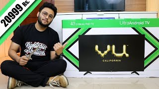Vu 43 inches Full HD Smart UltraAndroid LED TV | My New TV Unboxing and Review | Detailed Demo